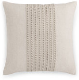 "Hotel Collection Textured Lattice Linen 20"" Square Decorative Pillow"