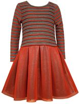 Bonnie Jean Girls 4-6x Striped Mesh Dress