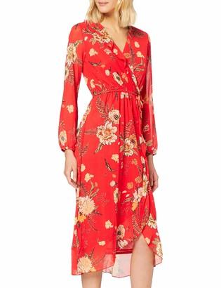 Yumi Women's Wrap Midi Dress Casual