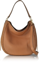 Rebecca Minkoff Almond Leather Unlined Convertible Hobo Bag w/Whipstitch
