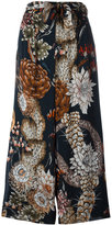 Just Cavalli patterned flared trousers - women - Viscose - 42