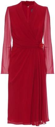 Max Mara Galizia silk-georgette midi dress