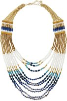Nakamol Long Multi-Strand Beaded Statement Necklace, Lapis Mix