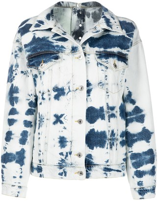 MSGM Tie-Dye Denim Jacket