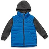 Pacific Trail Hoodie Vest Jacket in Grey/Blue