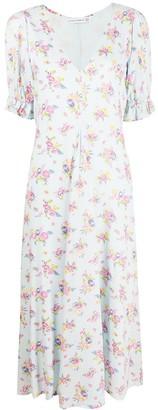 Faithfull The Brand Floral Print Midi Dress