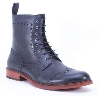 French Connection Versailles Leather Lace-Up Combat Boot