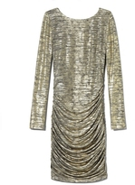 Vince Camuto Metallic Ruched Dress