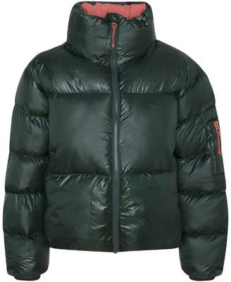 Pepe Jeans Short Padded Puffer Jacket with High Neck and Pockets