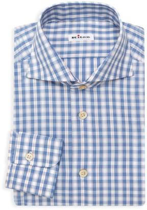 Kiton Gingham Dress Shirt