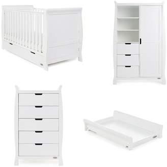 O Baby Obaby Stamford Classic Sleigh 4-Piece Nursery Furniture Room Set