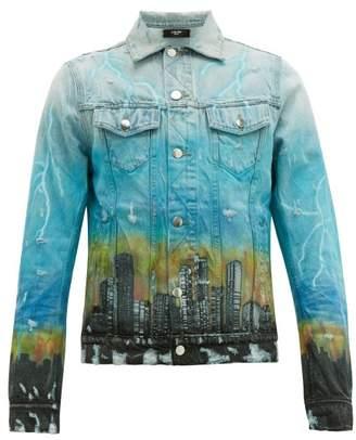 Amiri City Dragon Denim Jacket - Mens - Blue Multi