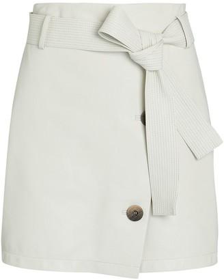 ZEYNEP ARCAY Belted Leather Mini Skirt
