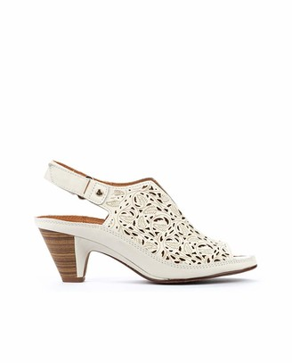 PIKOLINOS Leather Heeled Sandals Java W5A
