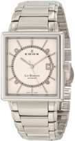 Edox Men's 82005 3 AIN Les Bemonts Rectangular Automatic Watch
