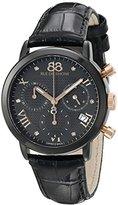 88 Rue du Rhone Women's 87WA130005 Double 8 Origin Analog Display Swiss Quartz Black Watch