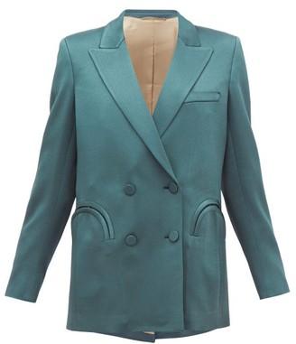 BLAZÉ MILANO Everynight Double-breasted Crepe Blazer - Womens - Green