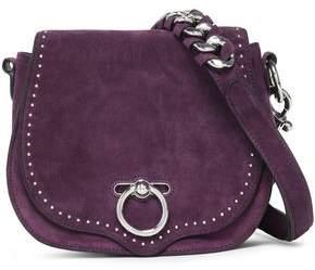 Rebecca Minkoff Studded Suede And Leather Shoulder Bag