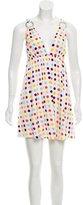 Alice + Olivia Silk Polka Dot Print Dress