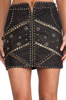 Ladakh Cobra Matte Suede Skirt
