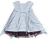 Junior Gaultier Striped Poplin & Polka Dot Tulle Dress