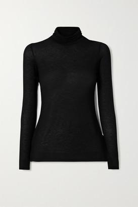 Commando Stretch-modal And Cashmere-blend Turtleneck Sweater - Black