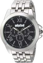 UNLISTED WATCHES Men's 'Dress Sport' Quartz Metal and Alloy Casual, Color:Silver-Toned (Model: 10030896)