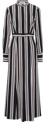 Diane von Furstenberg Printed Silk Maxi Shirt Dress