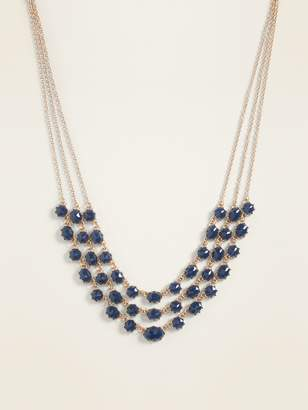Old Navy Layered Faceted-Bead Statement Necklace for Women
