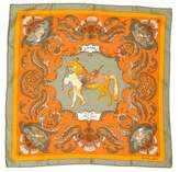 Hermes Zingaro Silk Pocket Square