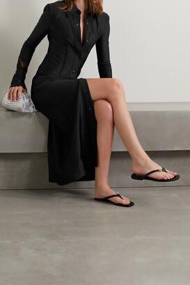 Alexander Wang - Neoprene Midi Shirt Dress - Black