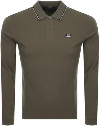 C.P. Company C P Company Long Sleeved Polo T Shirt Khaki
