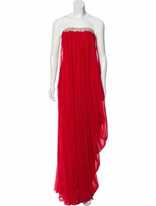 Johanna Ortiz Embellished Maxi Dress Red