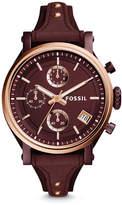 Fossil Original Boyfriend Sport Chronograph Wine Leather Watch