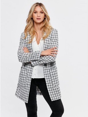 M&Co Dogtooth textured coat