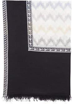 Gerard Darel Tallulah Cotton Scarf, Black/Multi
