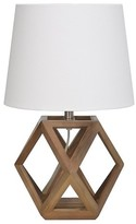 Threshold Accent Lamp Geometric Figural Wood