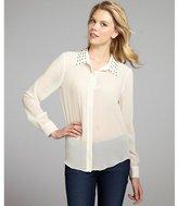 Walter ivory sheer chiffon studded 'Jean' blouse