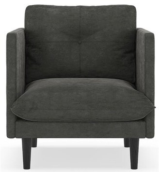 "Corrigan Studio Cowles 25.25 "" Armchair Fabric: Charcoal Polyester"