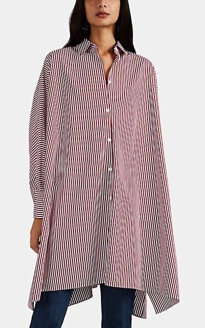 Maison Margiela Women's Striped Oversized Shirtdress - Wine