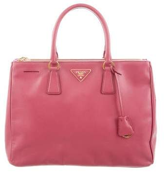b64e150590b6 Prada Saffiano Lux Double-zip Tote Bag - ShopStyle
