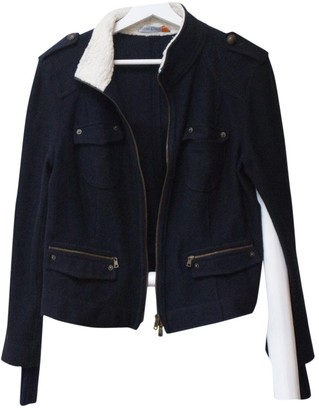 Marc Cain Navy Wool Jacket for Women