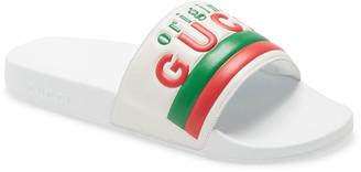 Gucci Pursuit Original Logo Slide Sandal