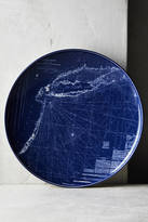 Caskata Blue Chart Platter
