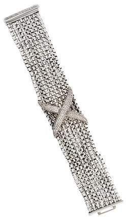 David Yurman Diamond X Multistrand Bracelet