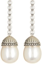 Lagos Sterling Silver 12mm Luna Freshwater Cultured Pearl & Diamond Drop Earrings - 030 ctw
