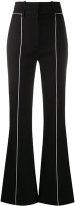 Givenchy Contrast-Trim Flared Trousers