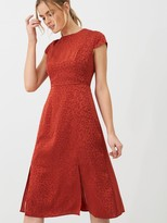 Ted Baker Bellana Soft Short Sleeve Midi Dress - Dark Orange