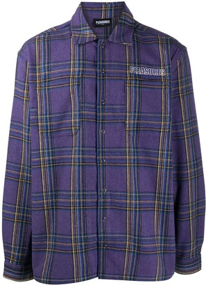 Pleasures Embroidered Logo Check Pattern Shirt