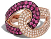 Effy Jewelry Effy Rosa 14K Rose Gold Ruby and Diamond Ring, 1.15 TCW